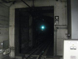 大阪天満宮駅側の入口。ホームからは見えないがこちらも防水扉がある。
