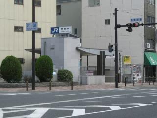 片町交差点の東側にある1号出入口