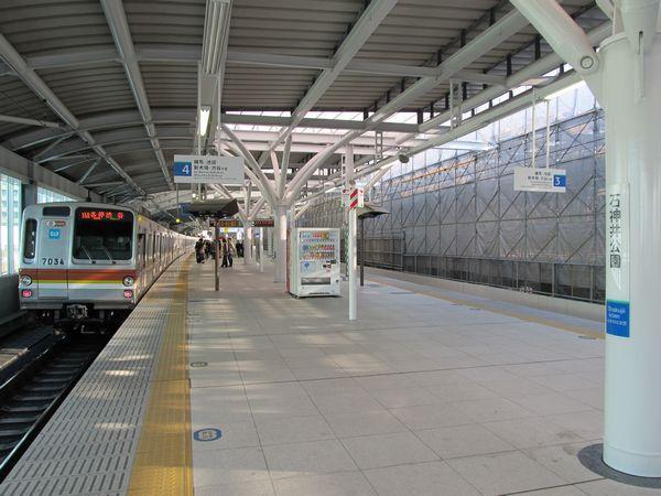 石神井公園駅高架ホーム