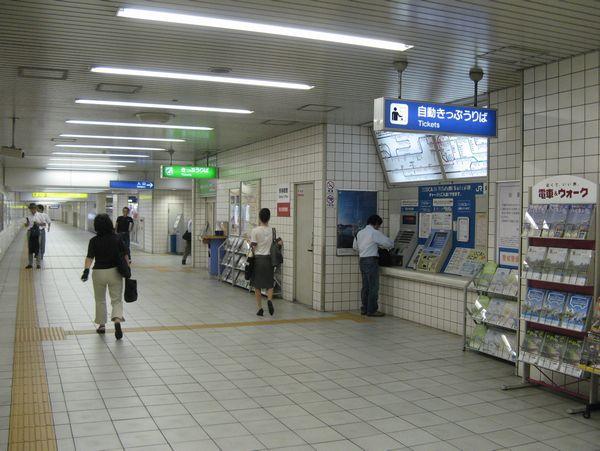 地下1階の改札口