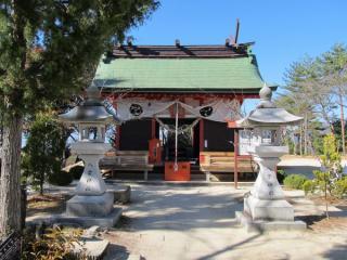 ロープウェイ山頂駅の脇にある八雲神社