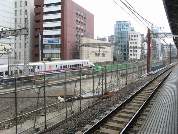 留置線の線路が撤去された秋葉原駅付近