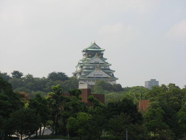 片町橋から見た大阪城天守閣
