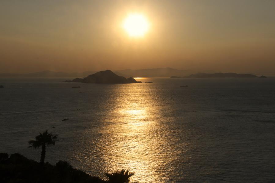 H231214伊良湖の夕暮れ