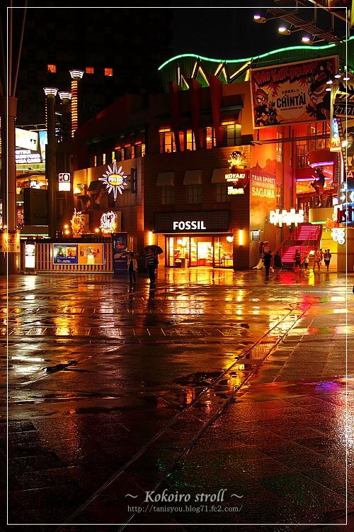 雨照らす。