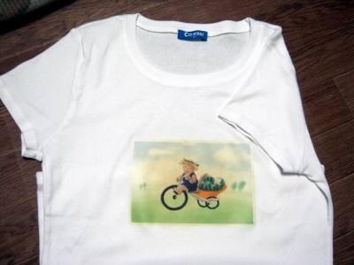 すいかネコTシャツ-3