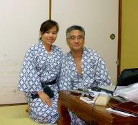京都の藤屋旅館にて