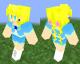 minecraft スキン オリジナル 女の子 金髪