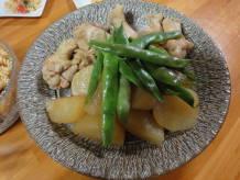鶏大根withアキシマササゲ