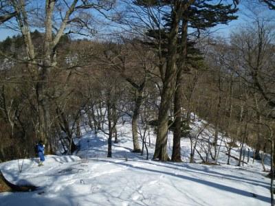 雪の稜線歩き