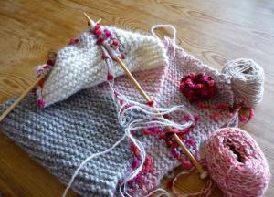 久しぶりの棒針編み