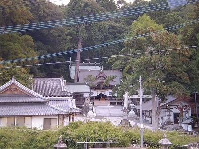 西寒多神社(遠景)