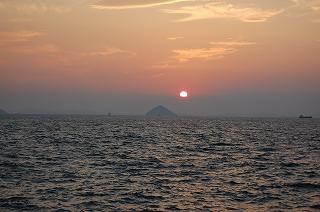大姫島の夕日