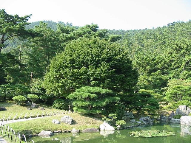 栗林公園 鹿鳴原