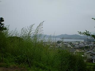 多和神社から志度湾(玉の浦)を望む