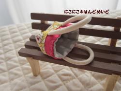 ぷちトート 小花×水玉 1-2