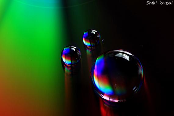 光の水玉写真【ウインカー】