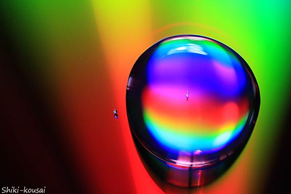 光の水玉写真【四季の色】