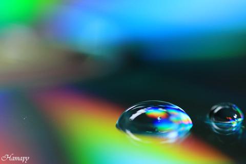 光の水玉【虹色】