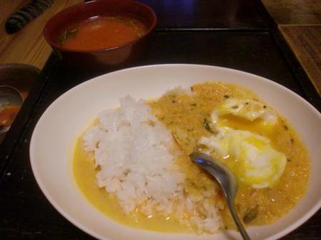 卵カレーとラッサム