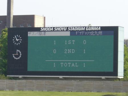 北九州戦試合結果