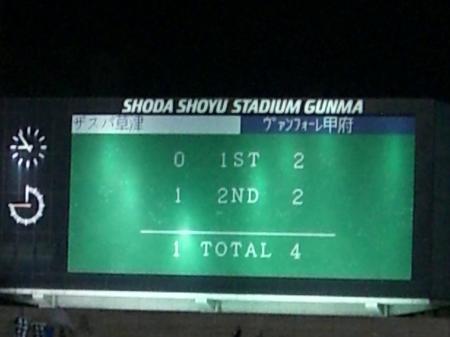 甲府戦試合結果