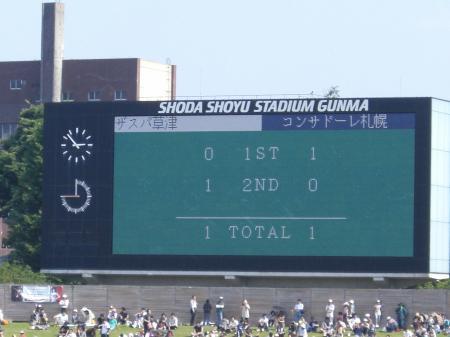 札幌戦試合結果