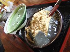 わらび餅と冷やし抹茶のセット