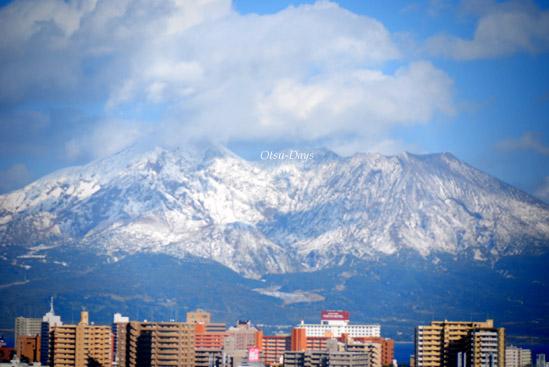 桜島も雪化粧☆2011