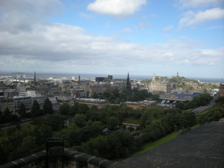 エジンバラ城からの眺望