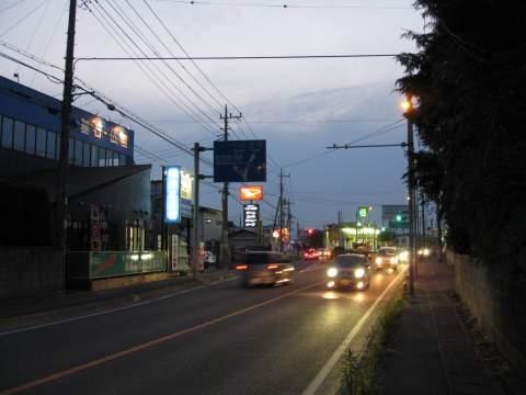 旧日光街道・堤根