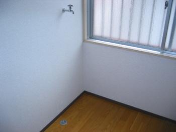 高木ビル202号洗濯機置き場