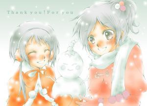 イーピン雪だるま!