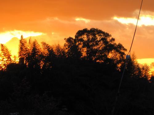 夕日が落ちる瞬間