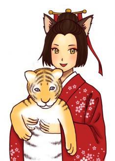 2010猫娘(塗りかけ)