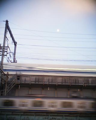 新幹線と総武線と月と:R2