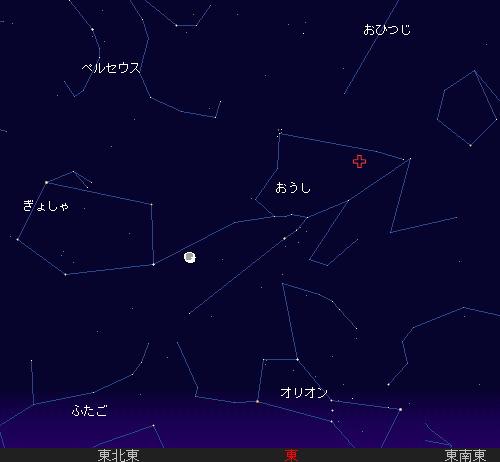 2009 11  5 おうし座流星群の南群星図