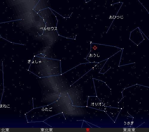2009 11  12 おうし座流星群の北群星図