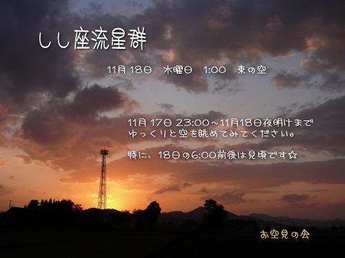 2009 11  18 しし座流星群