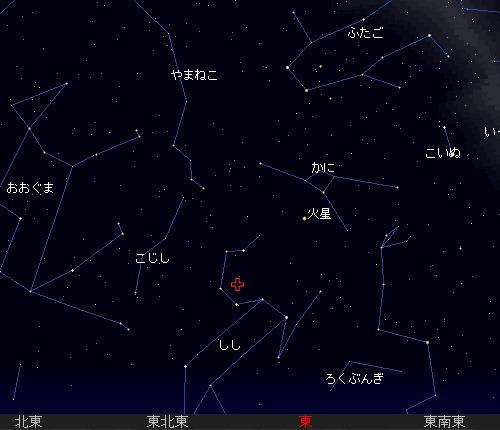2009 11  18 しし座流星群星図1時