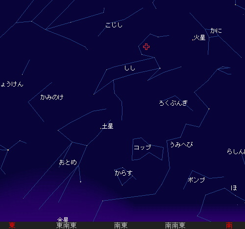 2009 11  18 しし座流星群星図5時30分