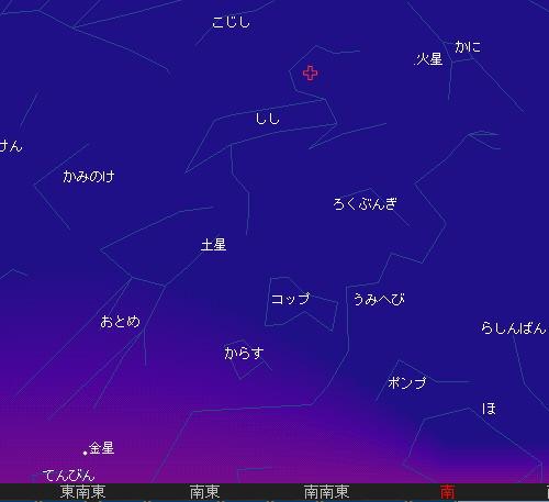 2009 11  18 しし座流星群星図6時