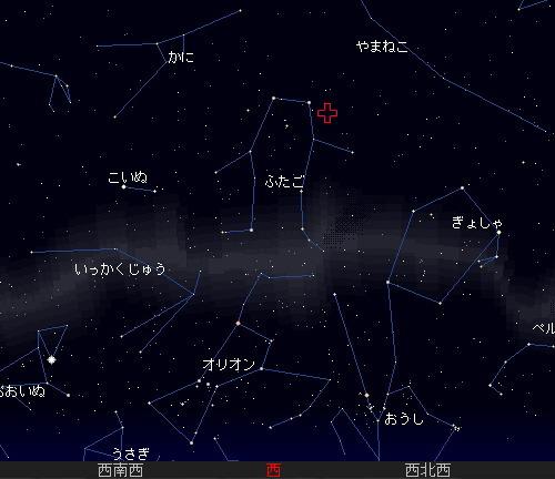 2009 12  14 ふたご座流星群星図5時
