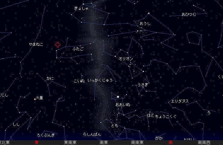 2009 12  14 ふたご座流星群星図23時