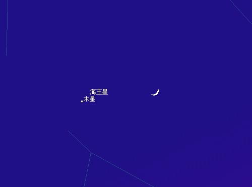 2009 12  21 月と木星の大接近17時20分星図1