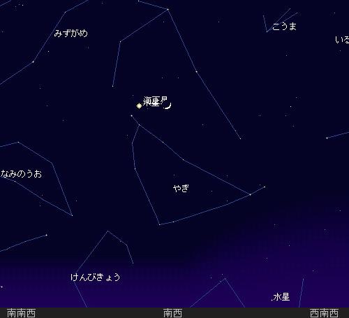 2009 12  21 月と木星の大接近18時星図2