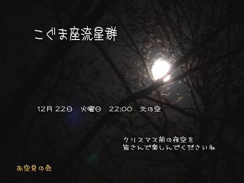 2009 12  22 こぐま座流星群