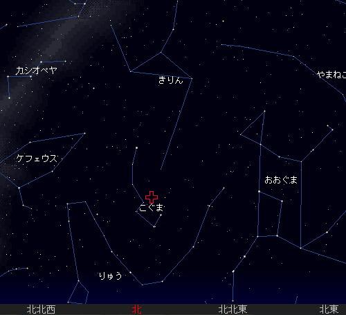 2009 12  22 こぐま座流星群星図