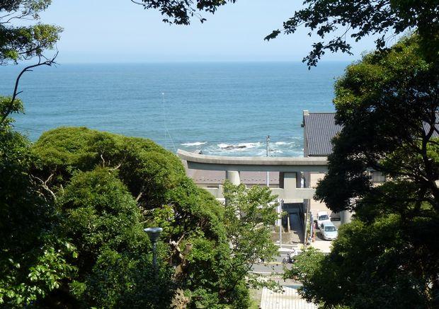 海と鳥居と鎮守の杜