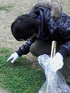 清掃活動20091213-g ~四つ葉のクローバーを求めて~